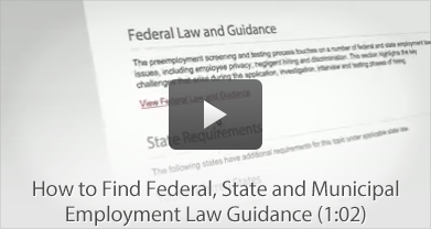 How to Find Federal, State and Municipal Employment Law Guidance
