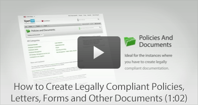How to Create Legally Compliant Policies, Letters, Forms and Other Documents