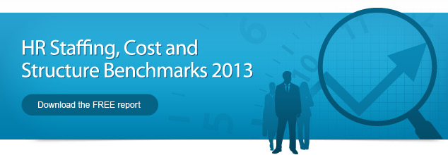 HR Staffing, Cost and Structure Benchmarks 2013 - Download the FREE report