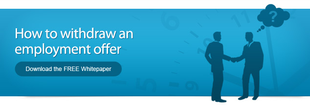 How to withdraw an employment offer - Download the FREE Whitepaper