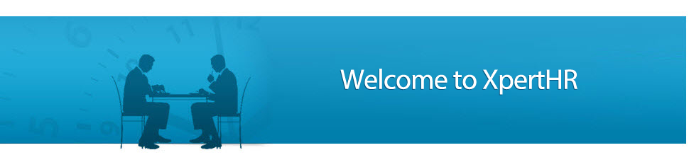 Welcome to XperHR banner