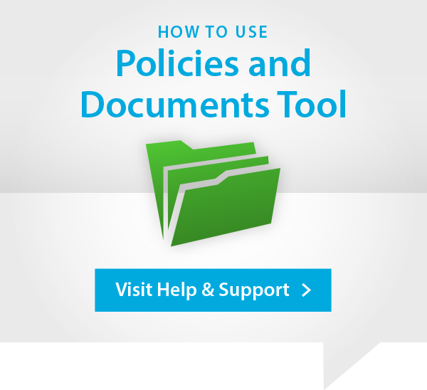 Policies and Documents Help and Support Advert
