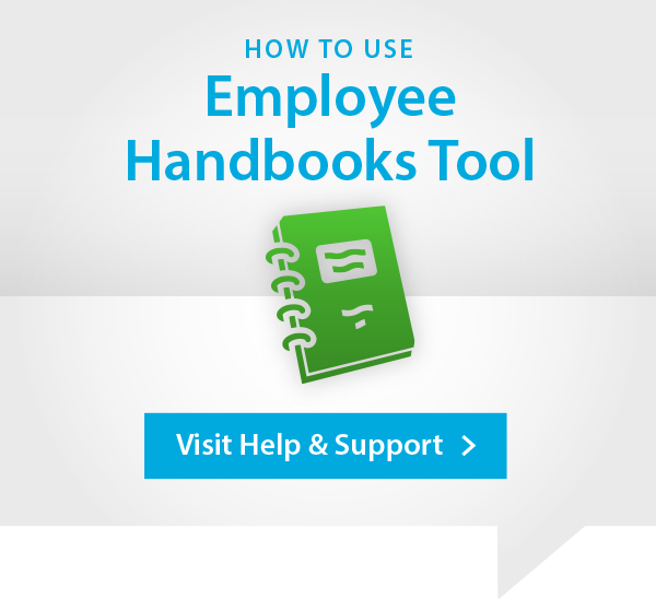 Employee Handbooks Help and Support Advert