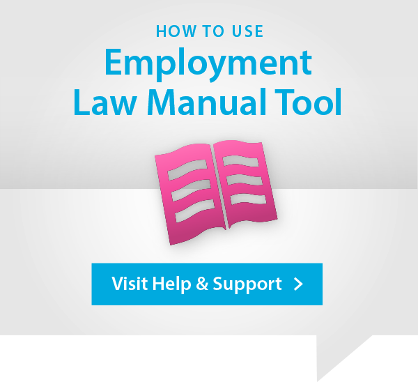 Employment Law Manual Help and Support Advert