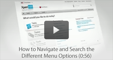 How to Navigate and Search the Different Menu Options
