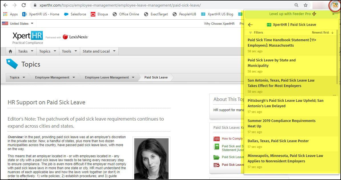 RSS Feeds Screenshot 1