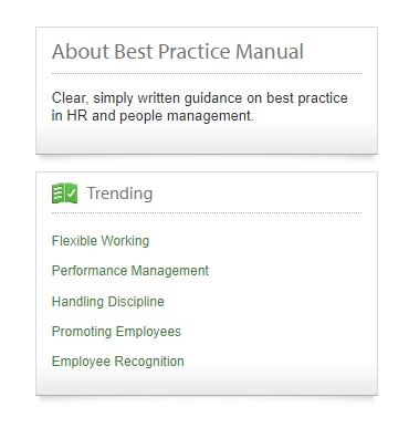 Best Practice trending module