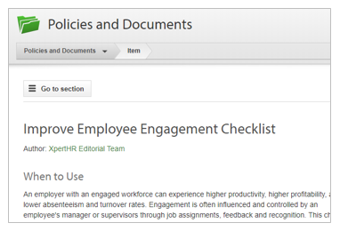 Improve Employee Engagement Checklist