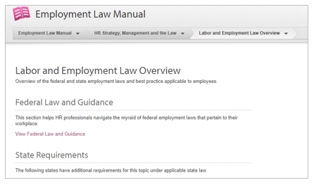 Labor and Employment Law Overview screenshot