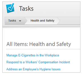 Tasks screenshot