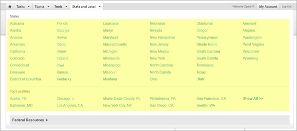 State and Local Resources Screenshot 1