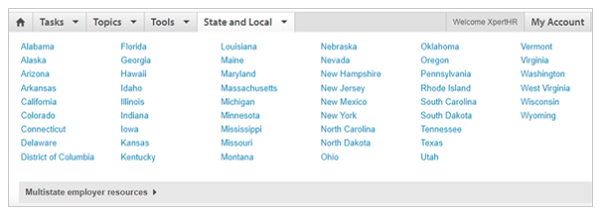 State and Local dropdown