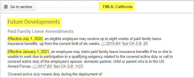 FMLA future developments
